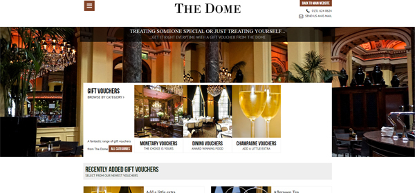 The Dome Gift Voucher Shop Launched